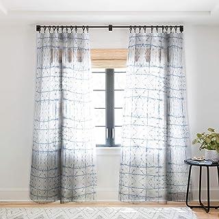 "Deny Designs Jacqueline Maldonado Manifest Slate Blue Sheer Window Curtain, 50"" x 96"""