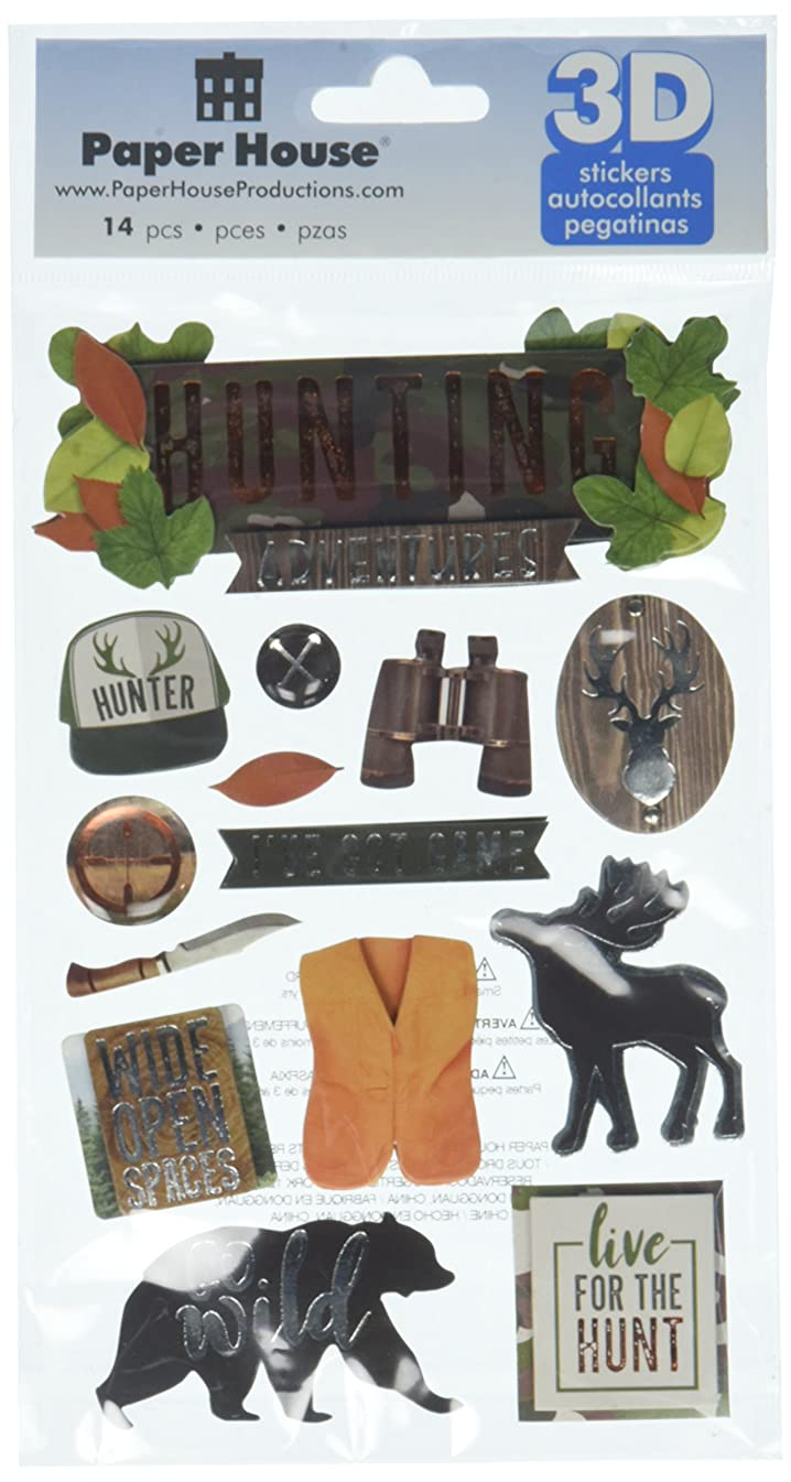 Paper House Productions Hunting Adventures 3D Stickers, 3-Pack