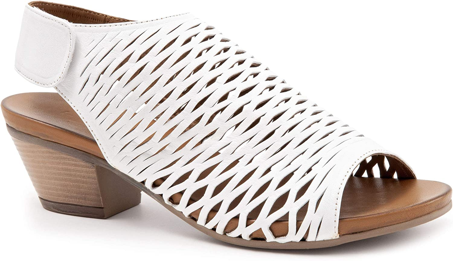 BUENO Women's Lacey in White Leather