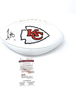 Tyreek Hill Kanas City Chiefs Signed Autograph Embroidered Logo Football JSA Witnessed Certified