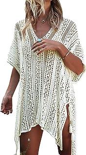 03c9a3a3bc JOSIFER Women's Summer Beach Coverups Bikini Swimsuit Crochet Cover ups Net