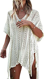 8c9807e6b2 JOSIFER Women's Summer Beach Coverups Bikini Swimsuit Crochet Cover ups Net