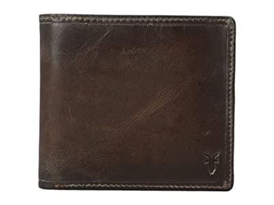 Frye Logan Billfold (Dark Brown Antique) Wallet Handbags