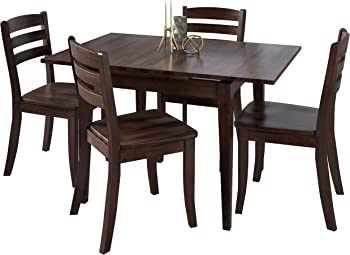 CorLiving Dillon 5 Piece Extendable Wooden Dining Set