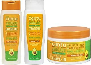 Cantu Avacado Hydrating Cream Shampoo, Conditioner en Leave-In Cream (set van 3)