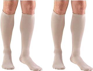 Truform Men's Knee High 15-20 mmHg Compression Dress Socks, Tan, X-Large (Pack of 2)