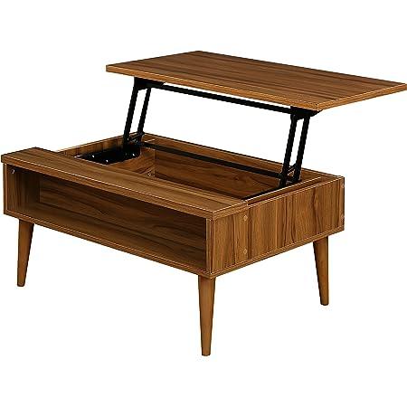快適ホームズ リフトアップテーブル グラード 昇降テーブル ローテーブル 幅90cm ブラウン SI-011BR