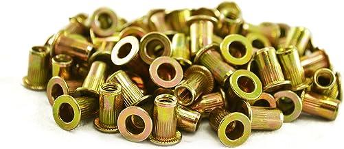 Astro Pneumatic Tool RN832 100 peças 8-32 porcas de rebite de aço