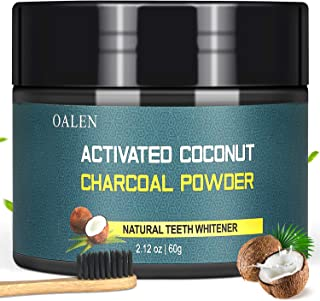 Activated Charcoal Natural Teeth Whitening Powder(60g) by Bestidy,Teeth Whitening Powder with Bamboo Brush Efficient Alternative to Charcoal Toothpaste, Strips, Kits, Gels Easy Cleaning No Hurt on Ena