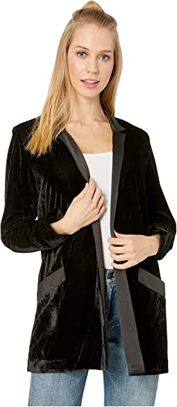 Midnight in Paris Velvet Blazer