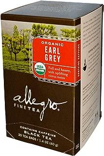 Allegro Fine Tea, Organic, Black Tea, Earl Grey, 20 Tea Bags, 1.4 oz