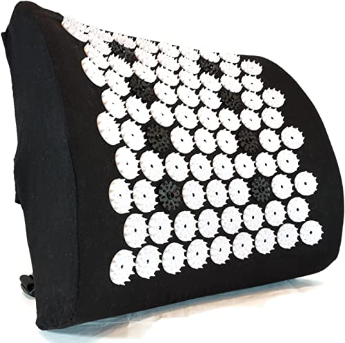 ZenGuru Best Lumbar Support Cushion - Acupressure Massage Back Pillow - Posture Improvement, Back Pain and Stress Rel...