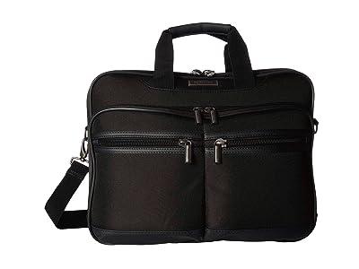 Kenneth Cole Reaction 17 RFID Computer Business Portfolio (Black) Handbags
