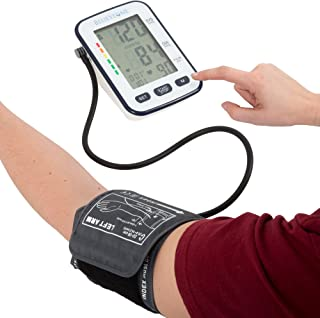 Bluestone Blood Pressure Cuff – Electronic Digital Upper Arm Heart Monitor with LCD Display Personal Health Tracker Device for Hypertension