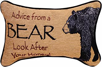 Manual The Lodge Collection Reversible Throw Pillow, 12.5 X 8.5-Inch, Advice from a Bear..