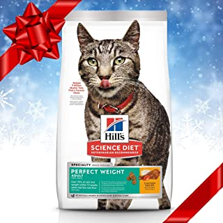 Hill's Science Diet Dry Cat Food, Adult, Perfect Weight for Weight Management, Chicken Recipe