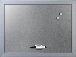Bi-Office Tableau magn/étique effa/çable /à sec avec Horloge//Planificateur Hebdomadaire 30 x 45 cm Gris