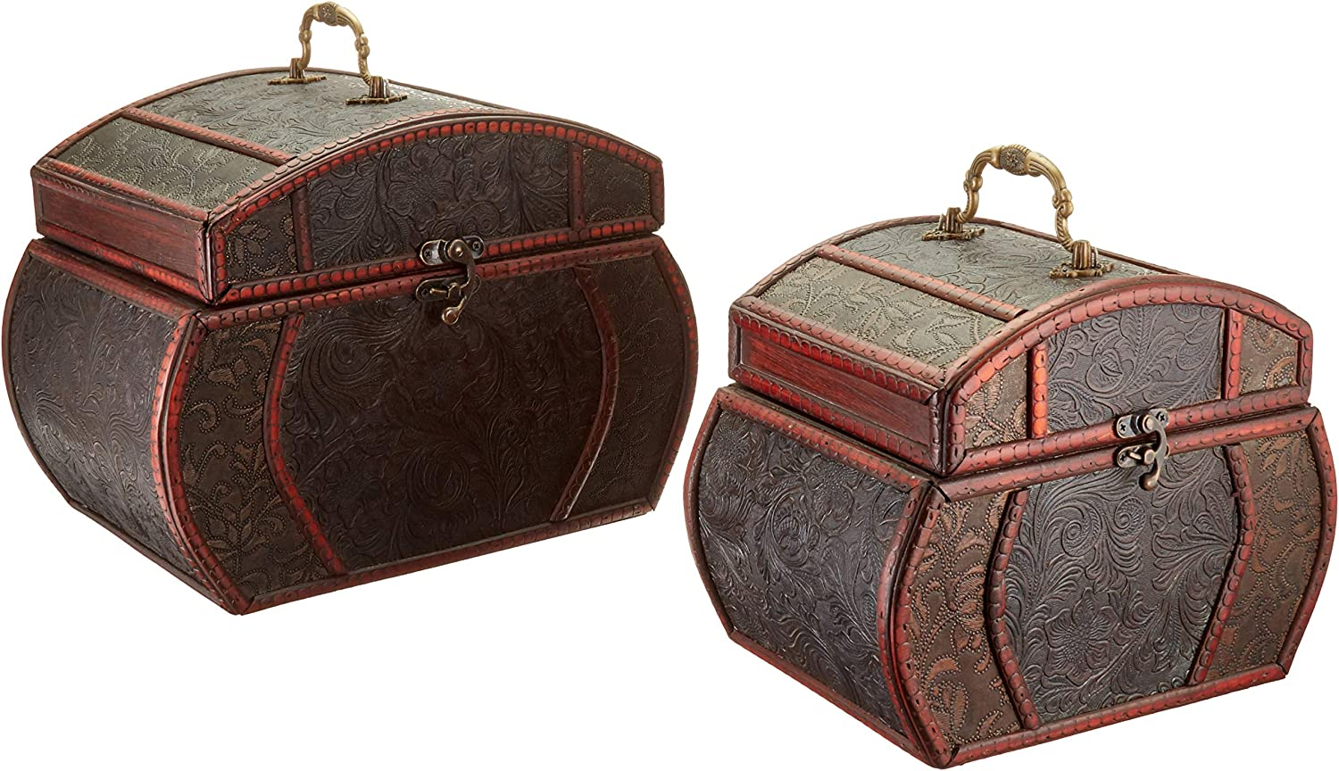 Nearly Natural Tabletop Set Daily bargain sale of 2 9w Decorative Courier shipping free shipping Chests x Small: