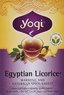 yogi egyptian licorice tea bags - 3 pack with 16 bags in each