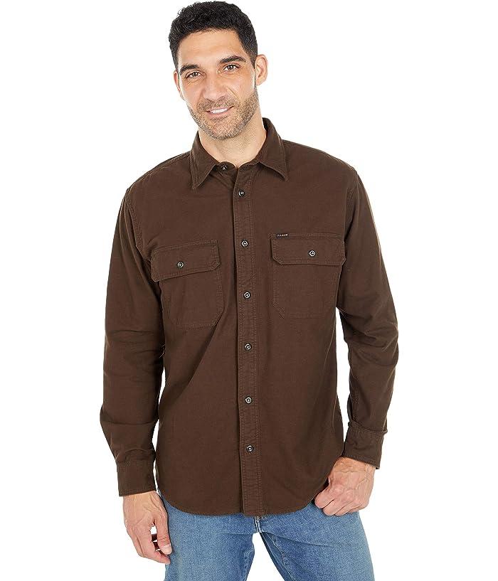 1930s Men's Fashion Guide- What Did Men Wear? Filson Field Flannel Shirt Cigar Brown Mens Clothing $98.00 AT vintagedancer.com
