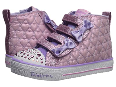 SKECHERS KIDS Shuffle Lite Quilted Beauties 20271N (Toddler/Little Kid) (Pink/Lavender) Girl
