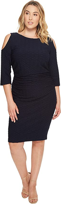 Adrianna Papell - Plus Size Cold Shoulder Fitted Dress