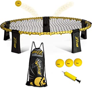 Spike Buzz Ball Battle Game Set, Standard Size - Spike Volleyball Sets, 4-Player, Outdoor Yard Games for Families, Adults,...