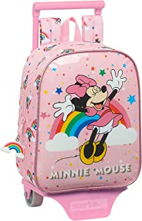 Mochila Guardería con Carro Minnie Mouse Rainbow, 220x100x270mm
