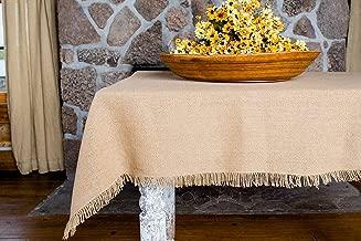 "Olivia's Heartland Deluxe Burlap Natural Tan Table Cloth (60""x102"")"
