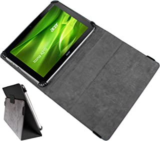 DURAGADGET Executive Black Protective Case with Stand & Adjustable Grips for Acer Iconia Tab A211, Acer Iconia Tab W500, Iconia Tab A510, Iconia Tab A500 & Ionia A210 Tablet-PC