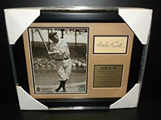 babe ruth signed picture