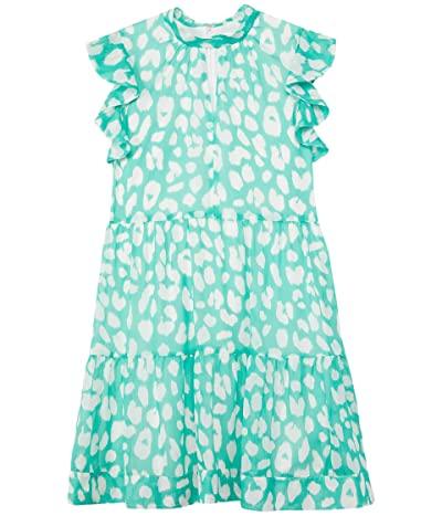 Milly Minis Mona Jungle Leopard Crackle Chiffon Dress (Big Kids) Girl