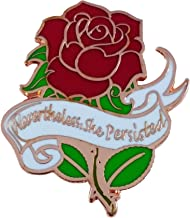 Dark Spark Decals Nevertheless, She Persisted Red Rose with Banner, Feminist 1. 25