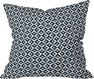 Deny Designs Khristian A Howell Nina In Pink And Navy Throw Pillow, 16 x 16