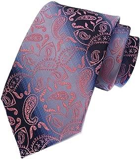 Secdtie Men's Paisley Ties Jacquard Woven Handmade Unique Designer Neckties