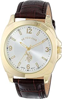 U.S. Polo Assn. USC50011JC Men's Quartz Watch, Analog Display and Stainless Steel Strap
