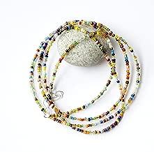 Africa waist beads, African waist beads for women, Belly chain, African jewelry, Body jewelry, African waist beads for her, 36inches waist beads, Two strands waist beads, Gift for girlfriend