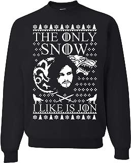 Tutiinca The ONLY Snow I Like is Jon, Jon Snow Christmas Sweater, Funny Christmas Sweater, Christmas Sweatshirt.