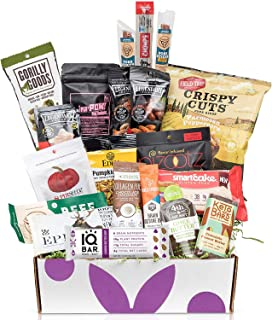Deluxe KETO Snacks Gift Box: Mix of Low Sugar High Fat Ketogenic Diet Snacks, Cookies, Protein Bars, Beef Sticks & Pork Rinds Low Carb Keto Care Package