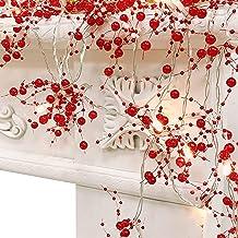 30 m lampki choinkowe 30 LED zasilane na baterie do dekoracji bożonarodzeniowych, girlanda świąteczna na kominek kominek d...