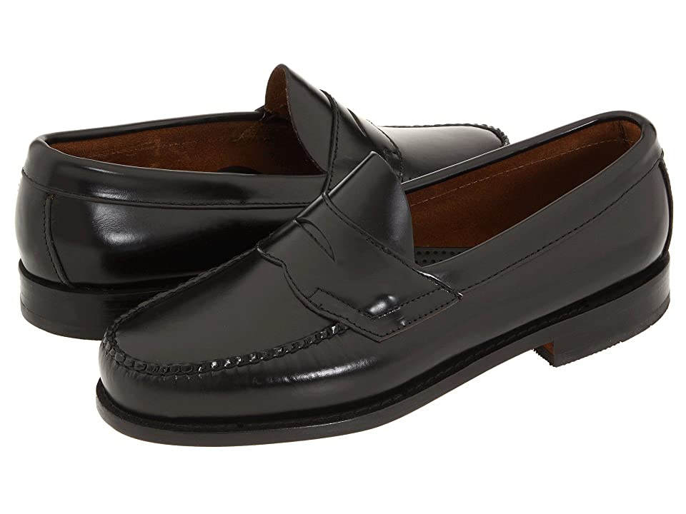 Retro Vintage Flats and Low Heel Shoes G.H. Bass amp Co. - Logan Weejuns Black Box Leather Mens Shoes $109.95 AT vintagedancer.com