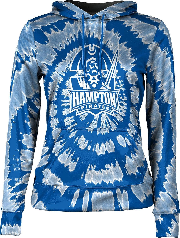 Hampton University Girls' Pullover Hoodie, School Spirit Sweatshirt (Tie Dye)