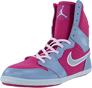 Jordan Girls 1 Skinny High GG Shoe (602656-608) - Hyper Fuchsia/Metallic Platinum/Pebble Grey