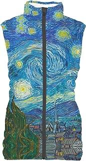 Rainbow Rules Van Gogh Starry Night Womens Puffer Vest Bodywarmer Gilet