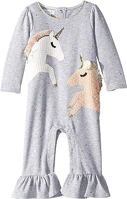 Unicorn Ruffle One-Piece Playwear Set (Infant)