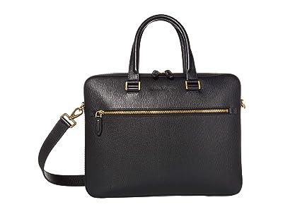 Salvatore Ferragamo Revival 3.0 Briefcase (Black) Briefcase Bags