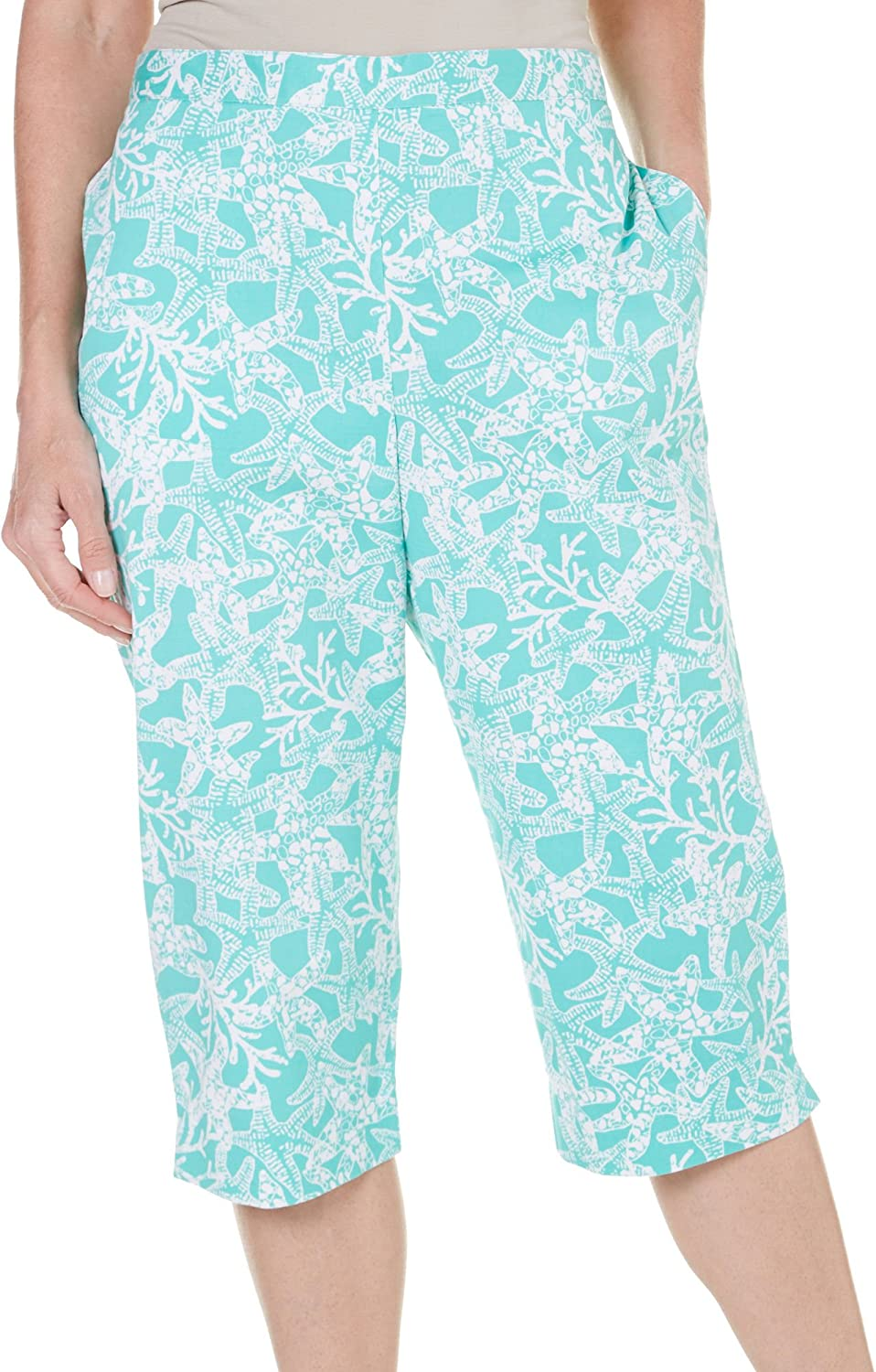 Alfred Dunner Women's Acapulco Printed Clam Digger Pants