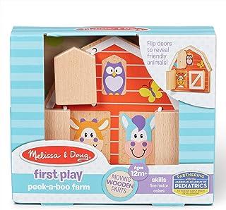 Melissa & Doug 40564 First Play-Peek-a-Boo Farm   Wooden Toys   2+   Gift for Boy or Girl