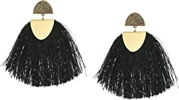 Lucky Brand Black Fringe Earrings