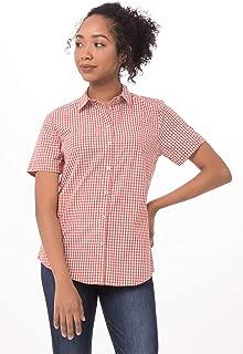 Chef Works Women's Modern Gingham Short Sleeve Dress Shirt